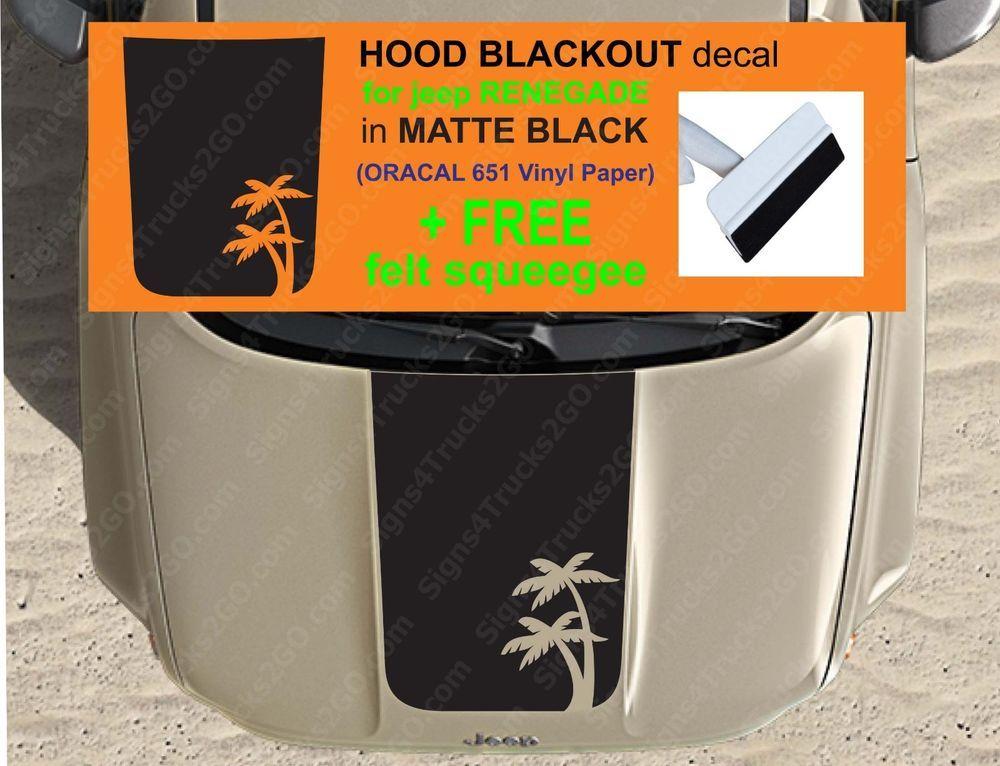 Details About 0129 J P Reneg E Hood Blackout Vinyl