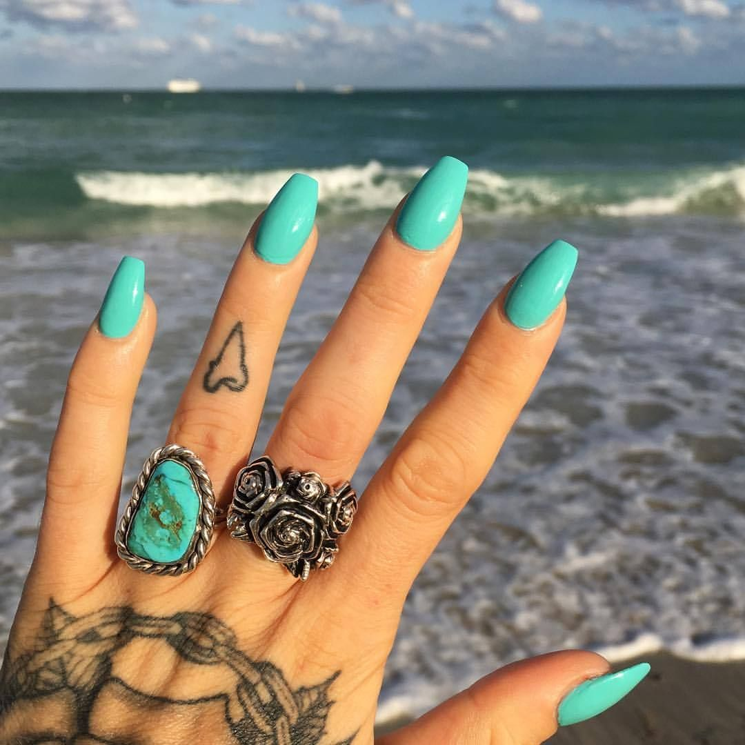 WET'💦🐬💦🐬💦🌴FLOSSGLOSS TURQUOISE NAILPOLISH