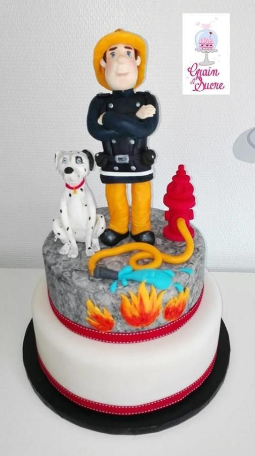 Fireman Sam Sam Le Pompier Cake By Sandra Margarito Cakes