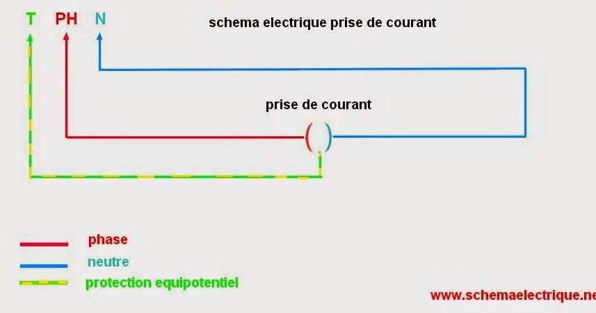 Super schéma de branchement prise électrique norme montage prise de  AX58