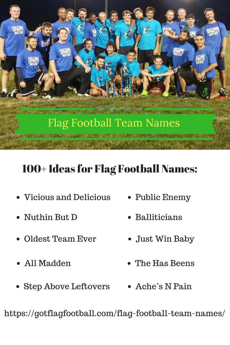 7ea4e2da65 Flag Football Team Names Funny Football Team Names, Flag Football, Funny  Flags