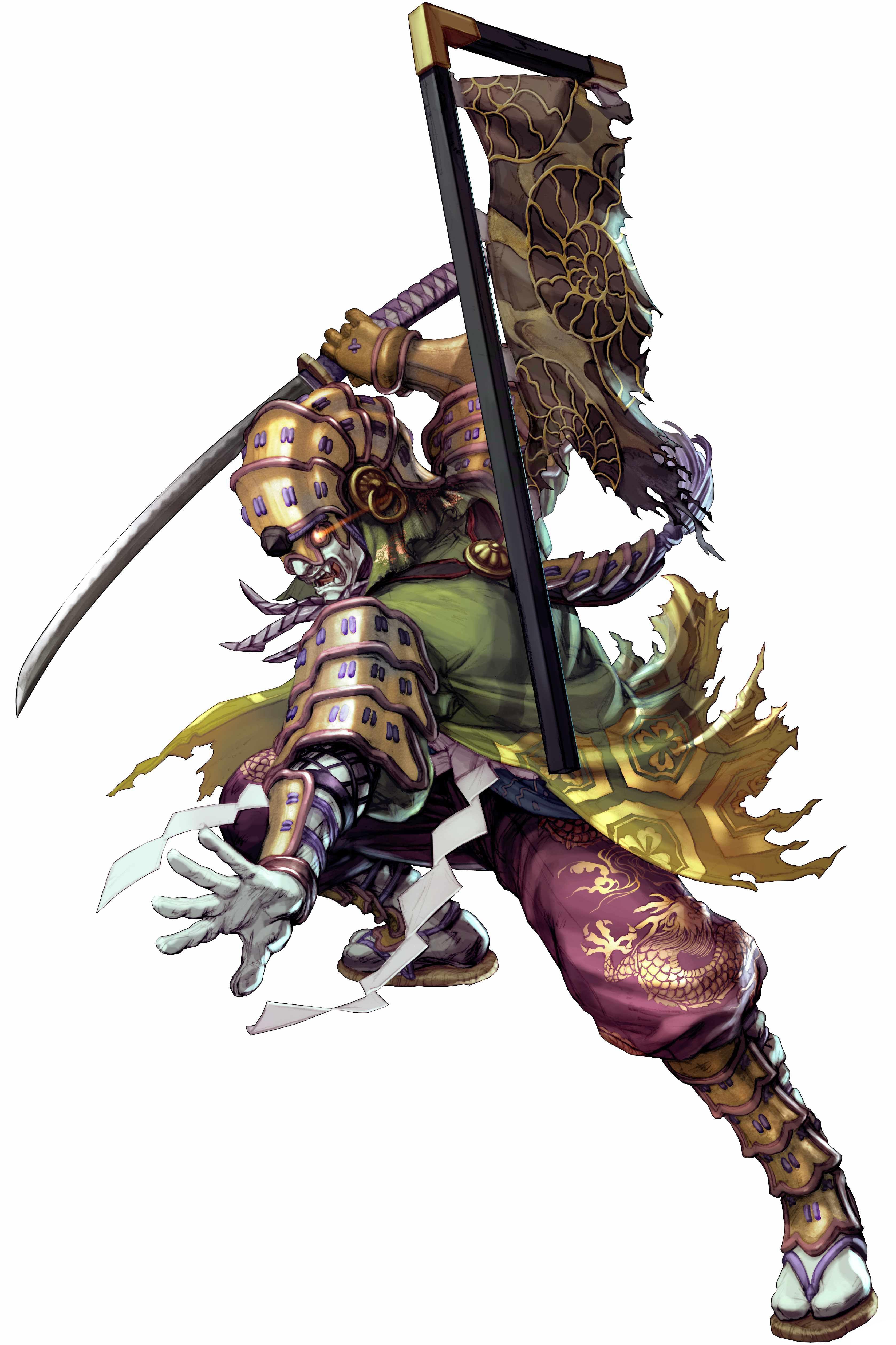 Yoshimitsu Character Design : Yoshimitsu in soul calibur g
