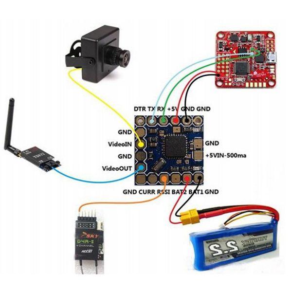 Micro Minimosd Minim Osd Mini Osd W   Kv Team Mod For