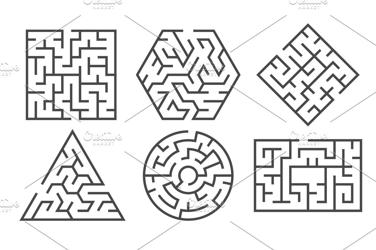 Maze. Labyrinth game in different in 2020 (With images