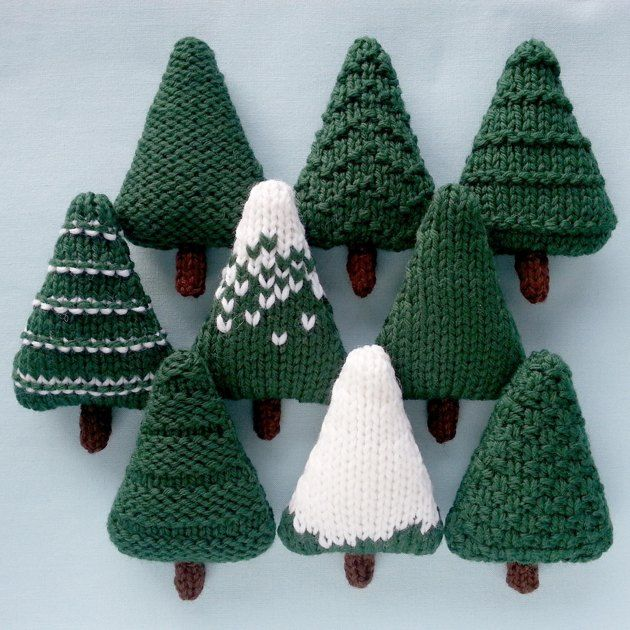 Christmas Trees 1 Knitting pattern by Squibblybups