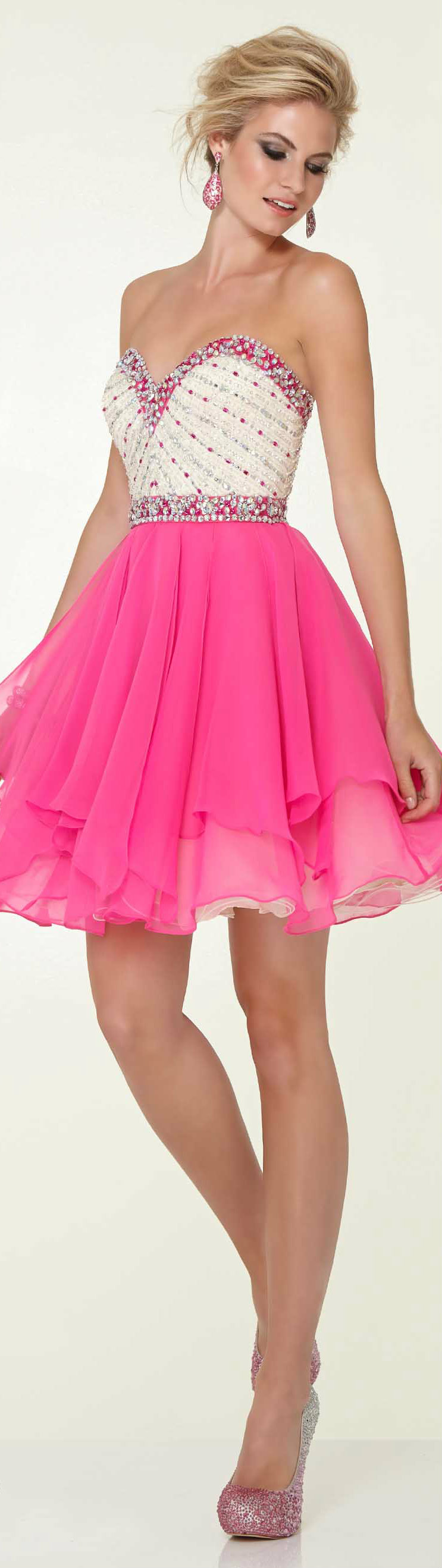 Hot pink homecoming dress  feeling like a princess  Fashion LuAmour  Pinterest  Happy colors