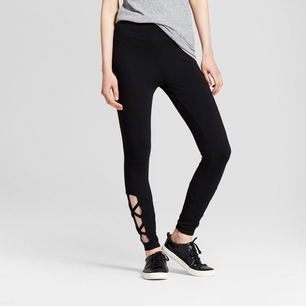46f47d24c70 Women s Leggings with Lattice Cut-Out - Mossimo Supply Co. Black Xxl ...