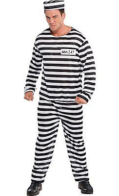 Adult Jail Bird Convict Prisoner Costume | costumes | Pinterest