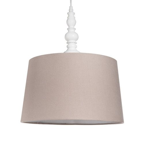 Wood And Fabric Ceiling Light D 30cm