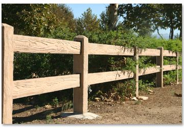 Precast Concrete Split Rail Backyard Fences Fence Design