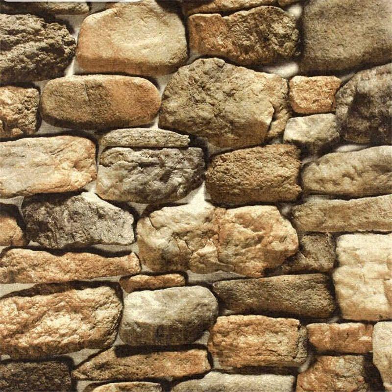 Beibehang Stone Wallpaper Simulation Retro Faux Rock 3d Wallpaper Restaurant Culture Stone Background Wall Paper Papel De Parede Wallpapers Aliexpress Wall Wallpaper Custom Wallpaper Stone Wallpaper