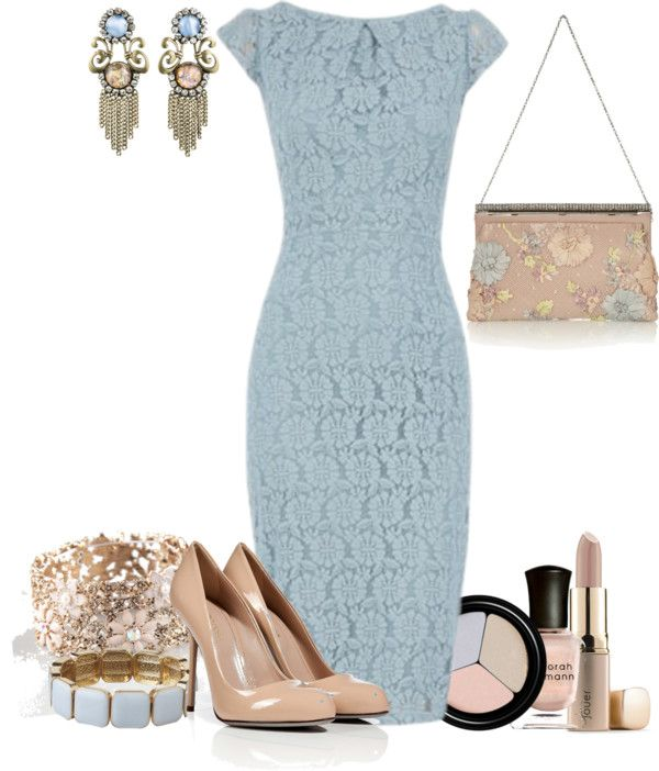 blue lace dress | Fashion, Blue dress outfits, Lace dress