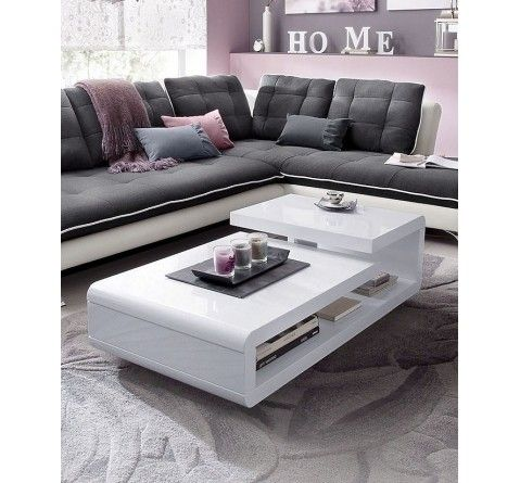 Royale Deco Table Basse Design Alice Blanc Laque 249 Center