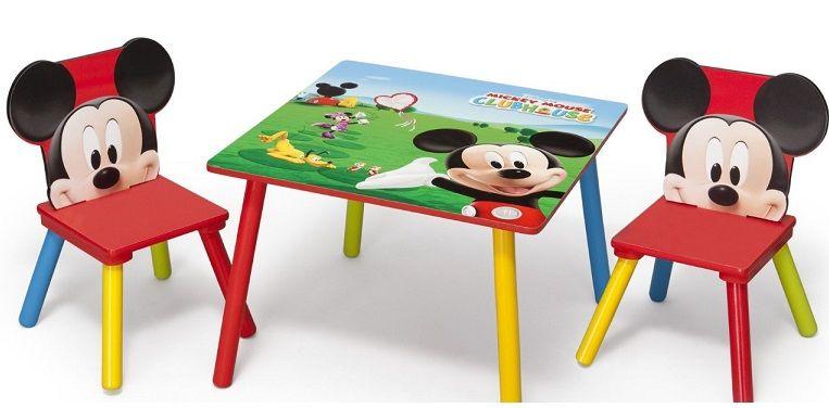 Mesa y sillas mickey tt89424mm mesa para ni os for Sillas para nino de 5 anos