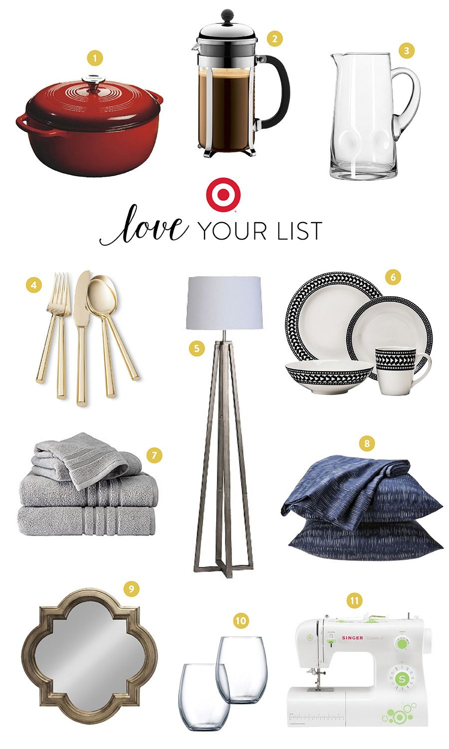 Love Your List with Target Wedding registry list