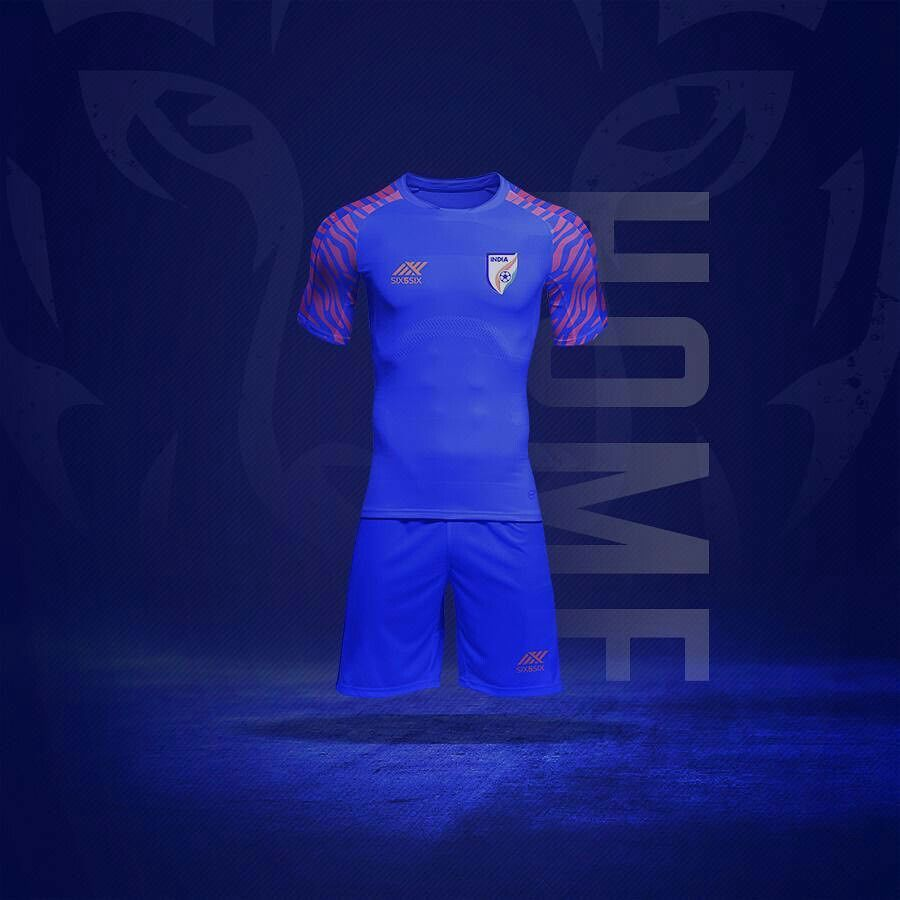 best service 6dd79 36b71 The new tiger inspired kit worn by the Indian football team ...