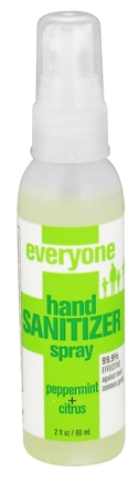 Everyone Hand Sanitizer Spray Peppermint Citrus 2 Fl Oz Eo