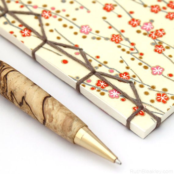 Cherry Blossoms Notebook Japanese Stab Binding By Ruth
