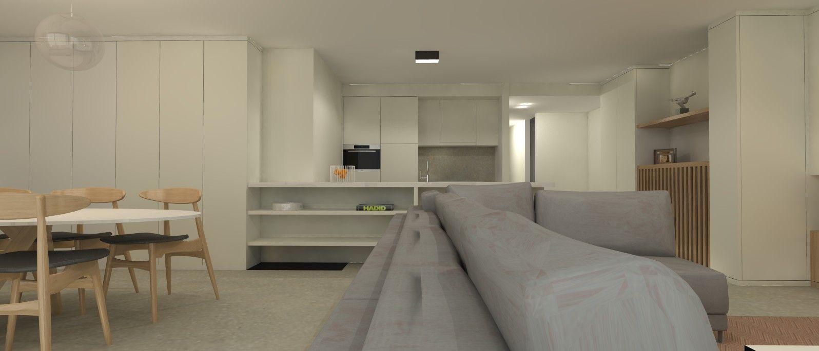 tijdloze keuken appartement aan zee interieurarchitect