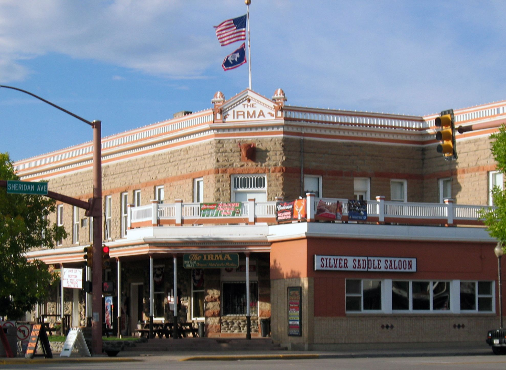 The Historic Irma Hotel Cody Wy Named After Buffalo Bill S Youngest Daughter Irma Wyoming Vacation Cody Wyoming Wyoming
