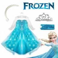 Promoção de Natal Fantasia Frozen Elsa Luxo com Vestido + Trança + Coroa+ Luva - Entrega de 1 a 2 dias Sedex todo Brasil – (GARANTIA PAG SEGURO). Facebook FROZEN SHOP. Estamos funcionando pode ser retirado em nossa loja em São Paulo-SP.