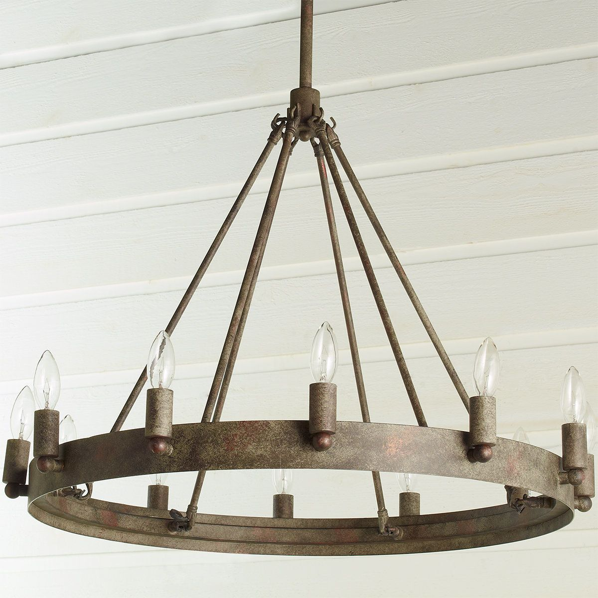 Check out Urban Loft Industrial Circular Chandelier from Shades of ...