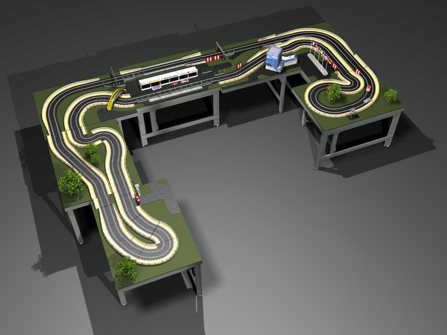 Carrera Slot Car Track Plans Google Search Rccars Slot Cars