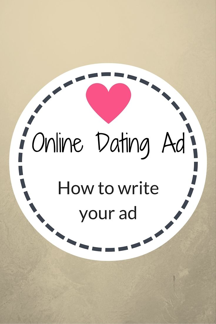 How to write an online dating ad
