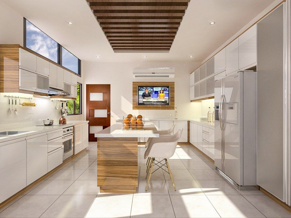 Two Tone Kitchen Vray Render Test By Jonas Banzon Rendering