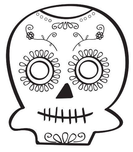 A49c53203ef983399c6d303221de5252 Jpg 431 489 Calaveras Para Colorear Dibujo Dia De Muertos Actividades Dia De Muertos