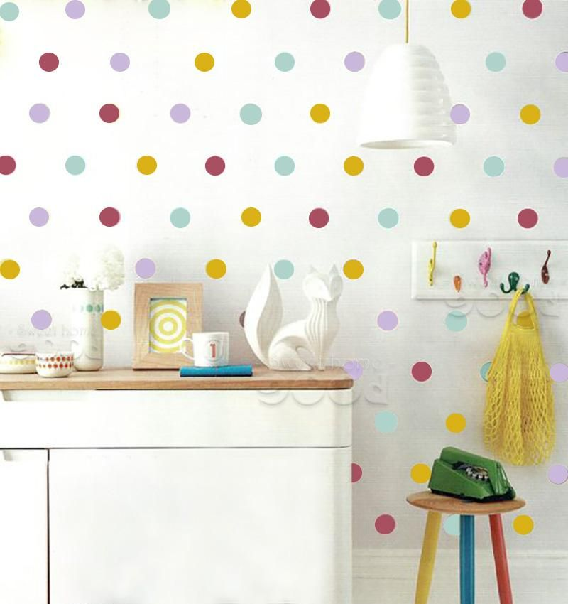 Mixed Colors Polka Dots Wall Stickers Instyle Walls Llc Baby Room Wall Stickers Polka Dot Walls Baby Room Wall Decor