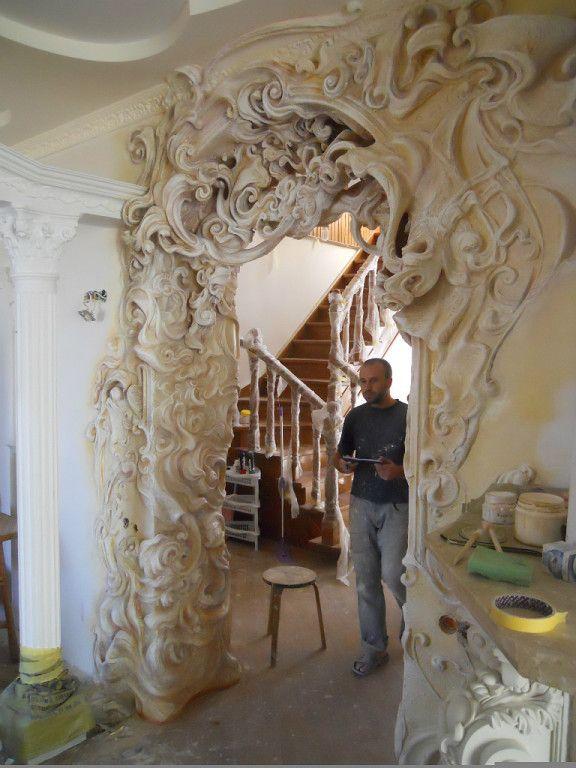 Ok ru pinterest for Plaster wall art