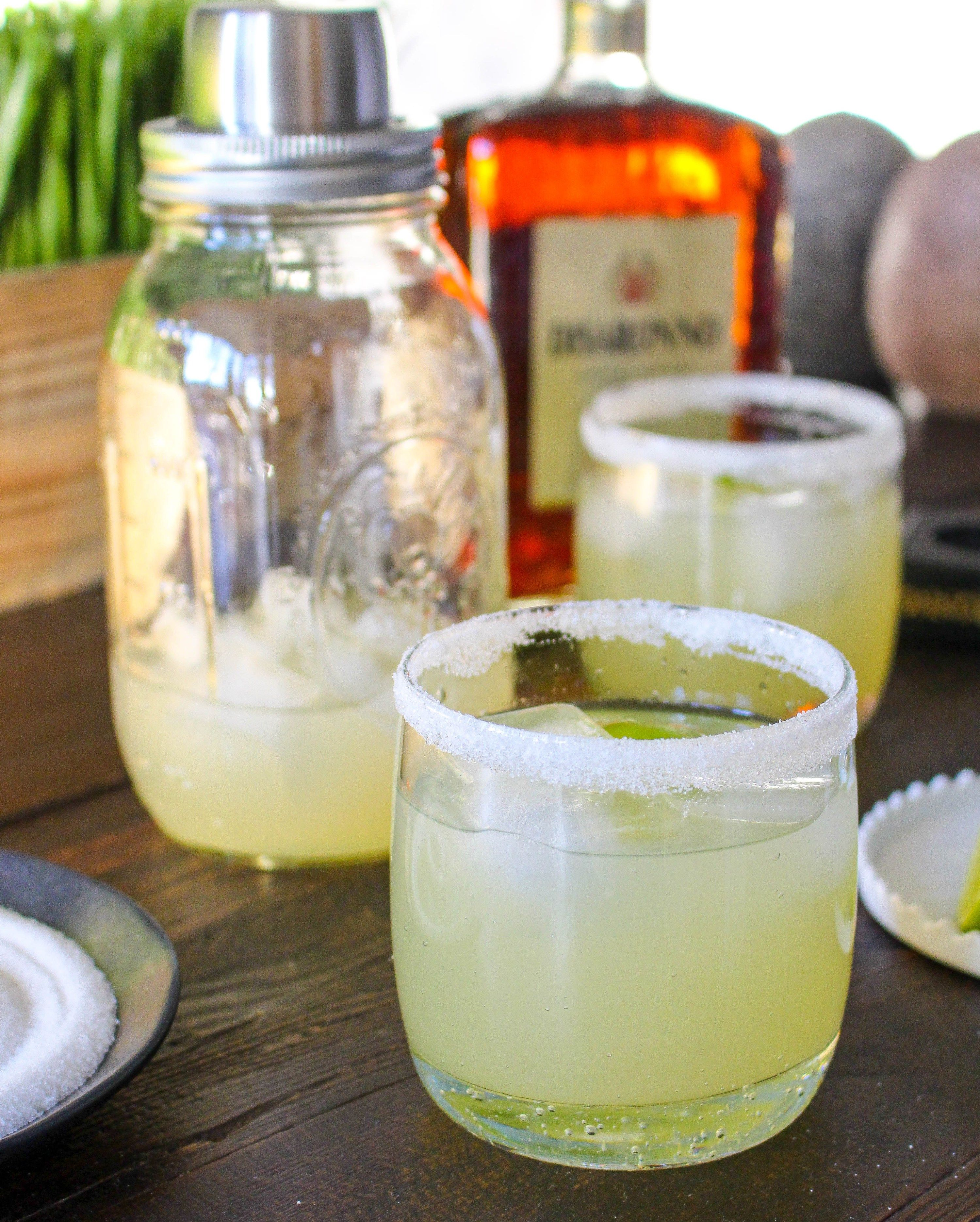 Amaretto margaritas with homemade sweetandsour mix