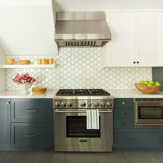 Backsplash Is Gotham Swiss Cross In Bright White (Designer: Leslie Sachs,  Breathing Room Design, Photographer: John Ellis Photo)