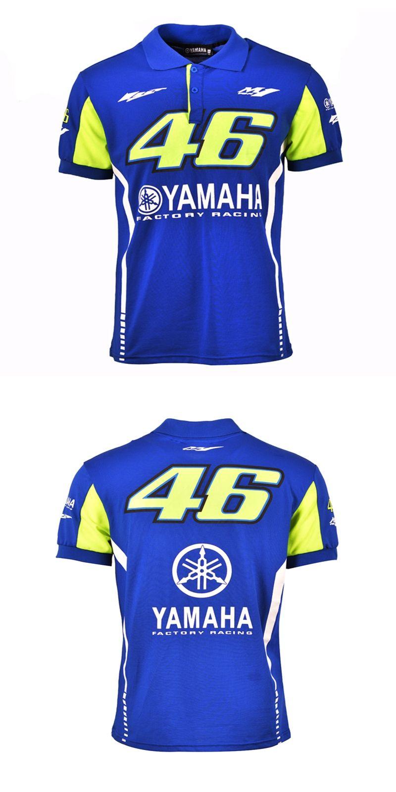 2017 Valentino Rossi Vr46 Racing Blue Motogp For Yamaha Polo Shirt