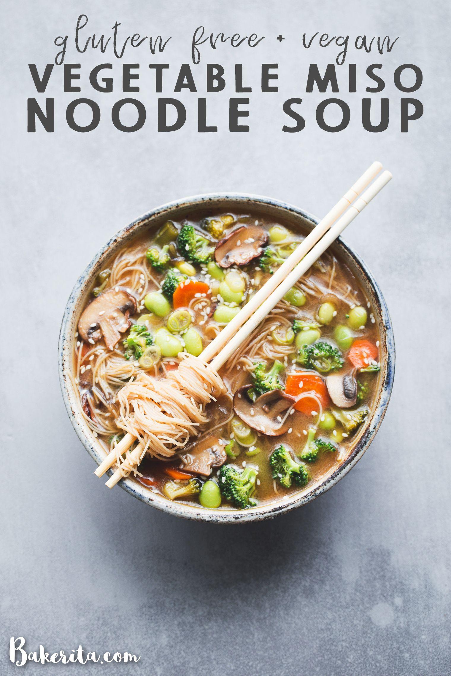 Gluten Free Vegan Vegetable Noodle Miso Soup