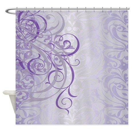 Vintage Rococo Purple Damask Shower Curtain In 2018