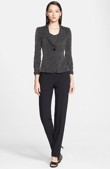 Armani Collezioni Glitter Jersey Jacket  over matching cap sleeve top | Nordstrom 2015