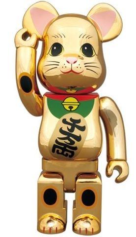 Medicom 100/% Bearbrick ~ Sky Tree Lucky Cat Be@rbrick Gold Neko Ver 5
