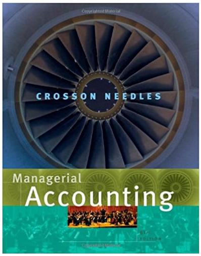 Managerial Accounting 8th Edition Susan V Crosson Answers Managerial Accounting Financial Accounting Accounting Books