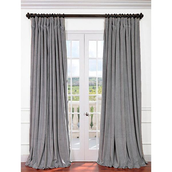 Signature Silver Grey Double Wide Velvet Blackout Pole