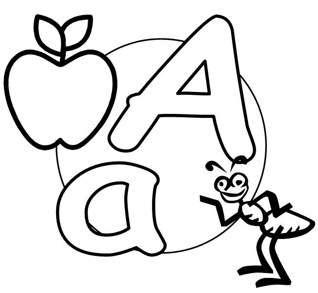 free printable alphabet letters to color A is for Ant - Gianfreda ...