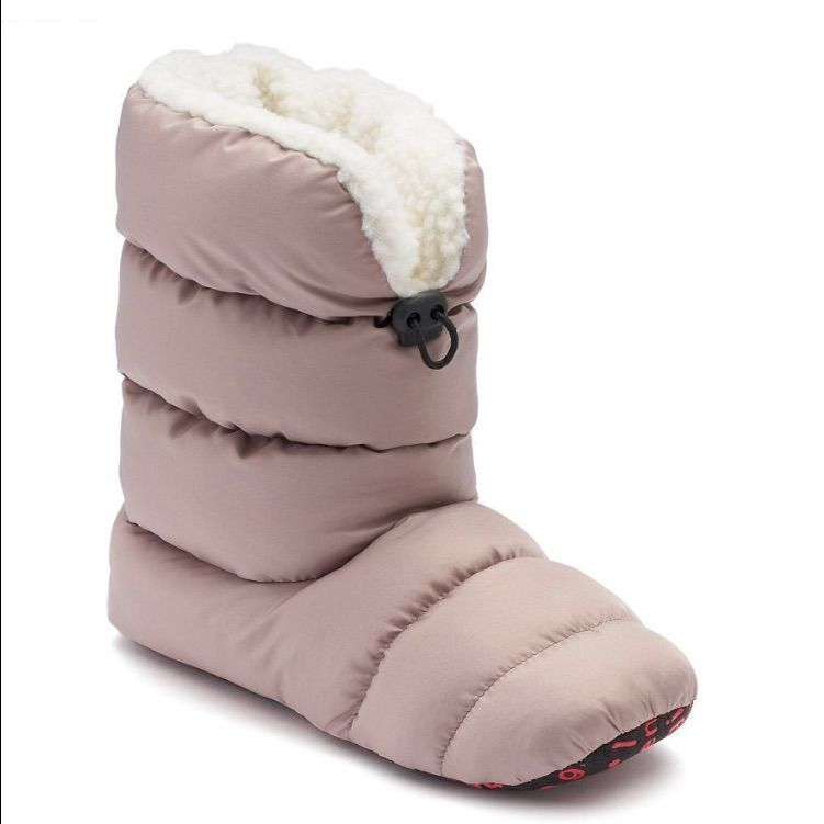 bbb16565247f48 Madden Girl Taupe Puffy Slipper Boots Size S 5-6