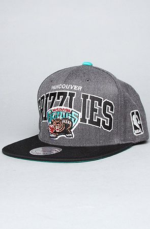 Mitchell   Ness The Vancouver Grizzlies Arch Logo Snapback Hat in Gray abe9af6e4701