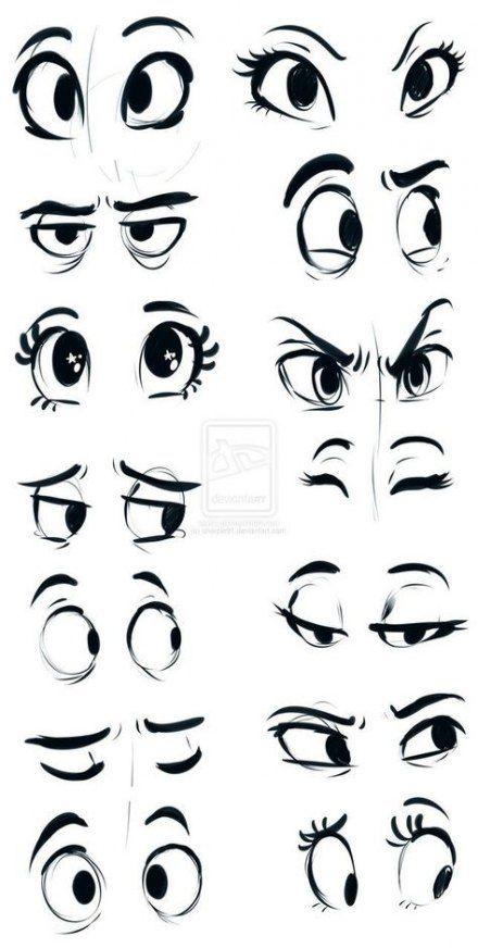 36+ Trendy how to draw eyes cartoon anatomy