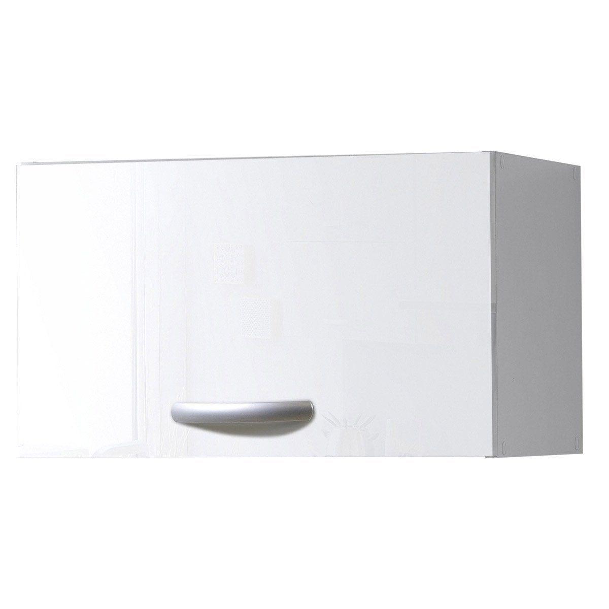 Meuble De Cuisine Haut 1 Porte Blanc Brillant H35 2x L60x P35 2cm Meuble Cuisine Meuble Mobilier De Salon