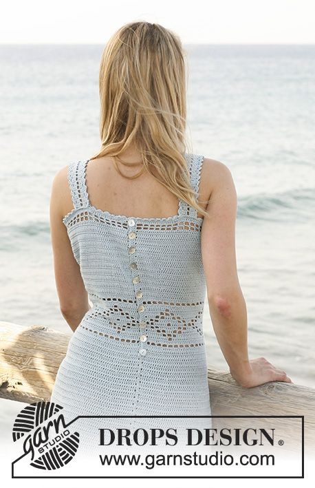 Patrón gratuito de ganchillo   Vestidos crochet   Pinterest ...