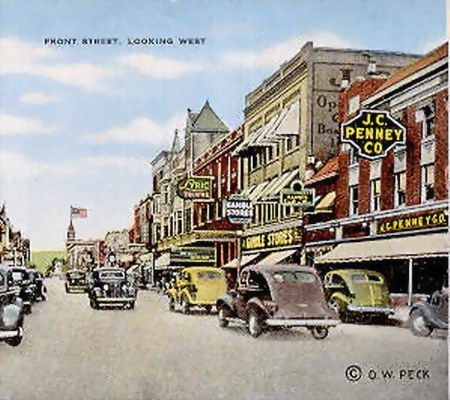 Downtown Traverse City Michigan With Images Vintage Michigan