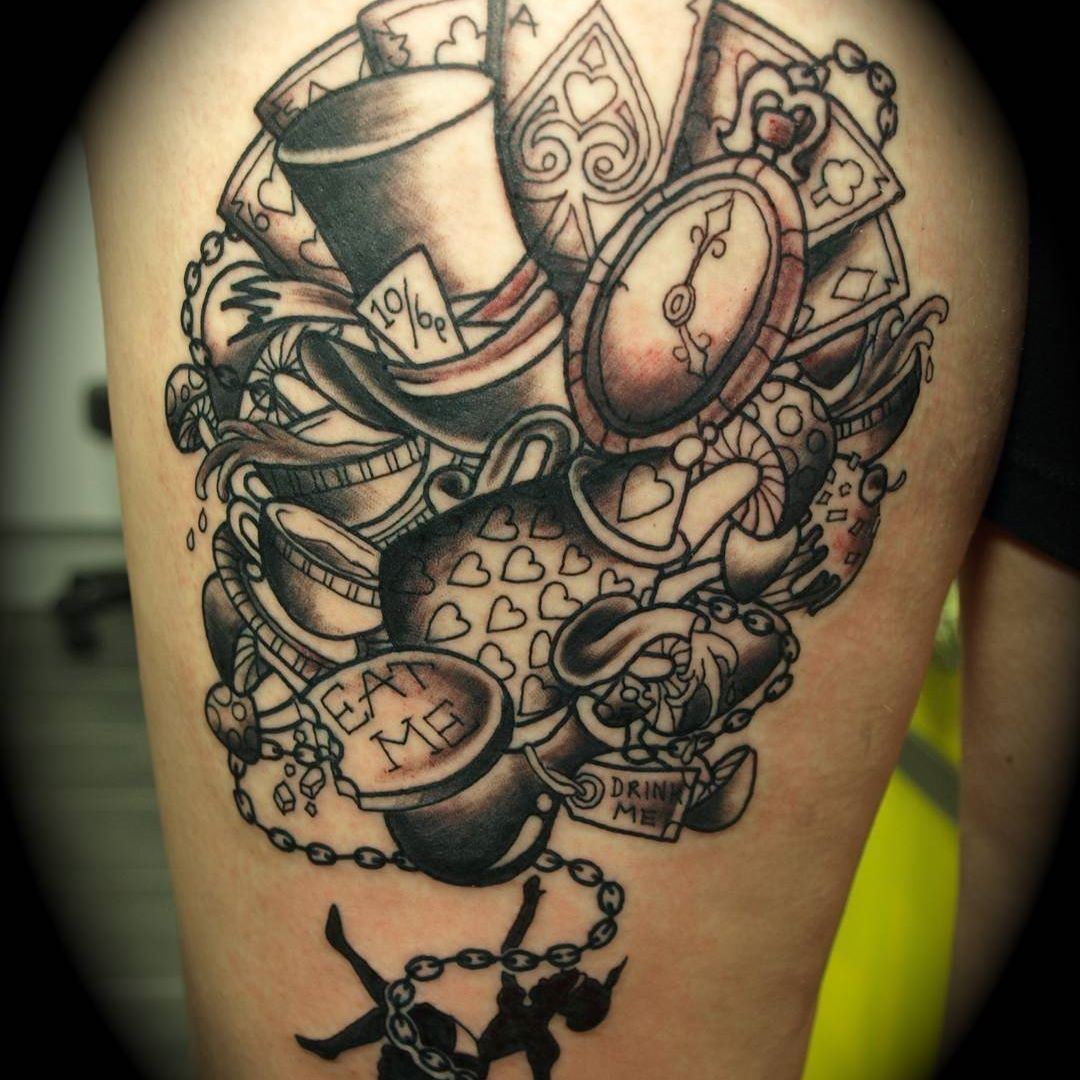 awesome Alice in wonderland tattoos - http://4develop.com ...