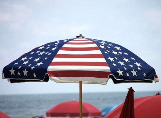 Flag Theme Patio Umbrella